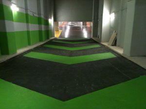 sol de parking rampe accès antidérapante